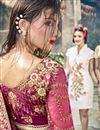 photo of Magenta Sangeet Function Wear Embroidered Designer Saree In Georgette