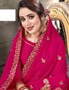 photo of Georgette Festive Wear Dark Pink Embroidered Fancy Saree