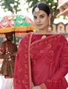 photo of Function Wear Georgette Embroidered Designer Red Saree