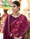 photo of Art Silk Function Wear Designer Embroidered Saree In Purple