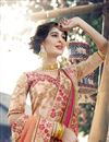 photo of Georgette Party Style Thread Embroidered Designer Saree In Pink