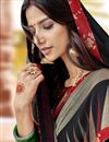 photo of Black Office Wear Georgette Fabric Printed Saree
