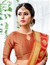 photo of Weaving Work On Chic Cotton Silk Orange Saree