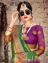 photo of Green Chic Cotton Silk Fabric Saree With Weaving Work