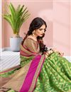 photo of Green Festive Wear Weaving Work Saree In Art Silk