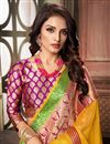 photo of Cotton Silk Fabric Classy Yellow Weaving Work Saree