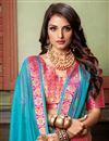 photo of Classy Weaving Work Cotton Silk Fabric Sky Blue Saree