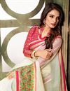 photo of Classy White Weaving Work Saree In Cotton Silk Fabric