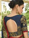 photo of Navy Blue Designer Function Wear Chiffon Fancy Embroidered Saree