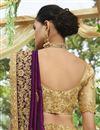 photo of Embellished Designer Wedding Wear Purple Fancy Saree In Art Silk