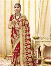 image of Georgette Fabric Wedding Function Wear Red Embroidered Saree