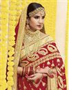 photo of Wedding Function Wear Red Embroidered Saree In Georgette Fabric