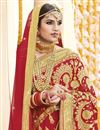 photo of Red Georgette Fabric Embroidered Wedding Function Wear Saree