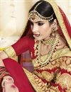 photo of Wedding Function Wear Georgette Fabric Red Embroidered Saree