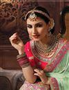 photo of Banarasi Silk Fabric Embroidered Fancy Bridal Wear Lehenga