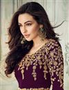 photo of Designer Purple Embroidered Party Wear Anarkali Dress In Georgette