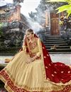 photo of Cream Georgette Designer Embroidered Function Wear Lehenga Choli