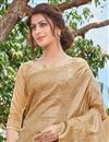 photo of Art Silk Function Wear Designer Fancy Weaving Work Saree In Beige