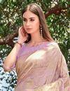 photo of Fancy Weaving Work Lavender Color Function Wear Designer Art Silk Saree