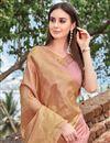 photo of Function Wear Designer Pink Fancy Weaving Work Saree In Art Silk