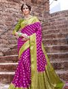 image of Art Silk Magenta Color Trendy Weaving Work Sangeet Wear Saree