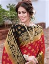 photo of Art Silk Sangeet Wear Trendy Weaving Work Saree In Red Color