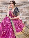 photo of Magenta Color Art Silk Trendy Weaving Work Sangeet Wear Saree