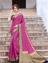 image of Magenta Color Art Silk Trendy Weaving Work Sangeet Wear Saree
