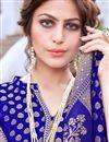 photo of Sangeet Wear Sky Blue Color Art Silk Trendy Weaving Work Saree