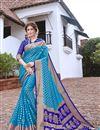 image of Sangeet Wear Sky Blue Color Art Silk Trendy Weaving Work Saree