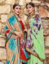 photo of Daily Wear Georgette Fabric Printed Saree In Sea Green