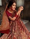 photo of Festive Style Maroon Weaving Work Saree In Art Silk