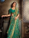 photo of Art Silk Cyan Weaving Work Festive Style Saree