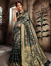 image of Art Silk Festive Style Weaving Work Saree In Black