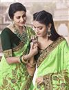 photo of Traditional Wear Art Silk Fancy Embroidered Saree In Sea Green