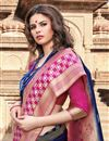 photo of Art Silk Navy Blue Weaving Work Traditional Wear Saree
