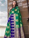 image of Weaving Work Teal Traditional Wear Art Silk Saree