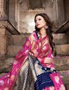 photo of Art Silk Traditional Wear Magenta Color Weaving Work Saree