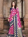 image of Art Silk Traditional Wear Magenta Color Weaving Work Saree