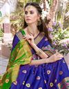photo of Party Wear Blue Color Fancy Saree In Art Silk With Weaving Border