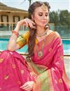 photo of Art Silk Pink Party Wear Fancy Saree With Weaving Border