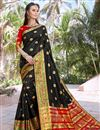 image of Black Party Wear Art Silk Fancy Saree With Weaving Border