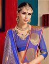 photo of Cotton Silk Party Wear Orange Saree With Weaving Work