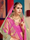 photo of Party Wear Cream Saree In Cotton Silk With Weaving Work