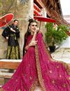 photo of Georgette Party Wear Designer Thread Embroidered Saree In Pink