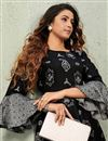 photo of Party Style Designer Black Long Kurti In Fancy Fabric
