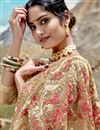 photo of Beige Net Fabric Function Wear Designer Embroidered Saree