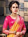 photo of Sangeet Wear Cotton Silk Designer Weaving Work Mustard Saree