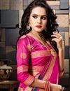 photo of Sangeet Wear Cotton Silk Designer Weaving Work Saree In Teal