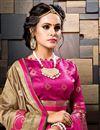 photo of Sangeet Wear Dark Beige Weaving Work Designer Cotton Silk Saree